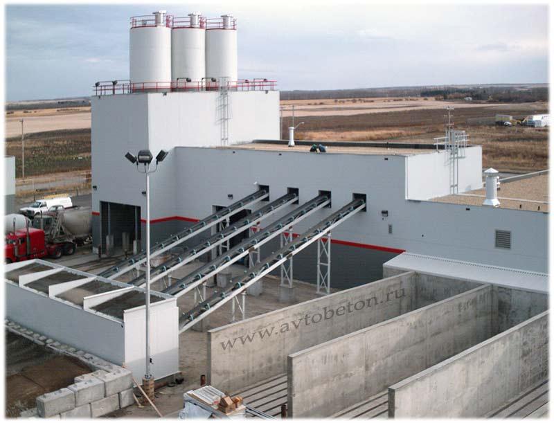 Бетонный завод, производство