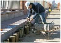 Отбор проб бетона, для дальнейших испытаний